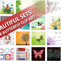 56 Butterfly Clip Art and Vector Templates to Download Free