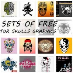53 Sets of Free Skulls Clip Art Vectors