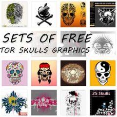 53 Sets of Free Skulls Clip Art Vectors