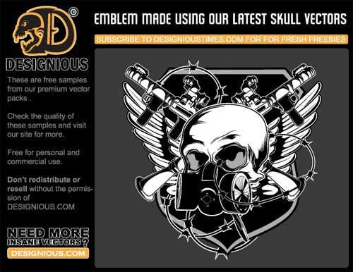 skulls clip art