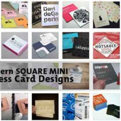 33 Modern Mini Square Business Cards for Inspiration
