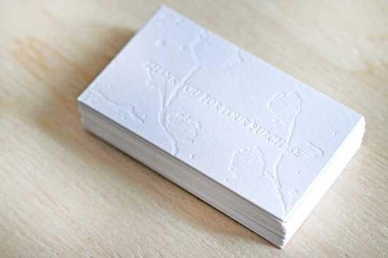 White business cards 45 beautiful letterpress printed cards white business cards colourmoves