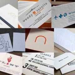 45 Sleek White Letterpress Business Cards