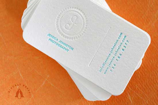 white business cards