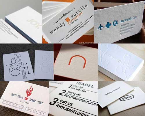 White business cards 45 beautiful letterpress printed cards white business cards reheart Choice Image