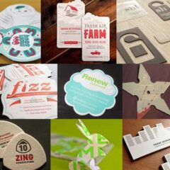 55 Custom Shaped Die-Cut Business Card Designs