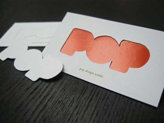 Die Cut Business Card 55 Custom Shaped Designs