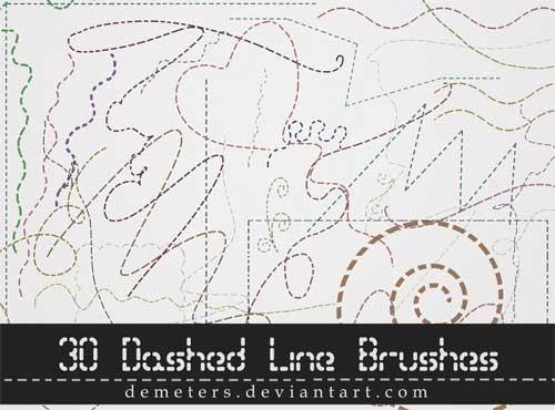 line brushes