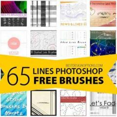 Line Brushes Great for Techy and Modern Photoshop Designs
