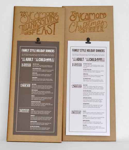 Restaurant menu design creative examples for inspiration