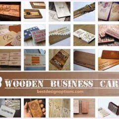 38 Tough Wooden Business Card Examples