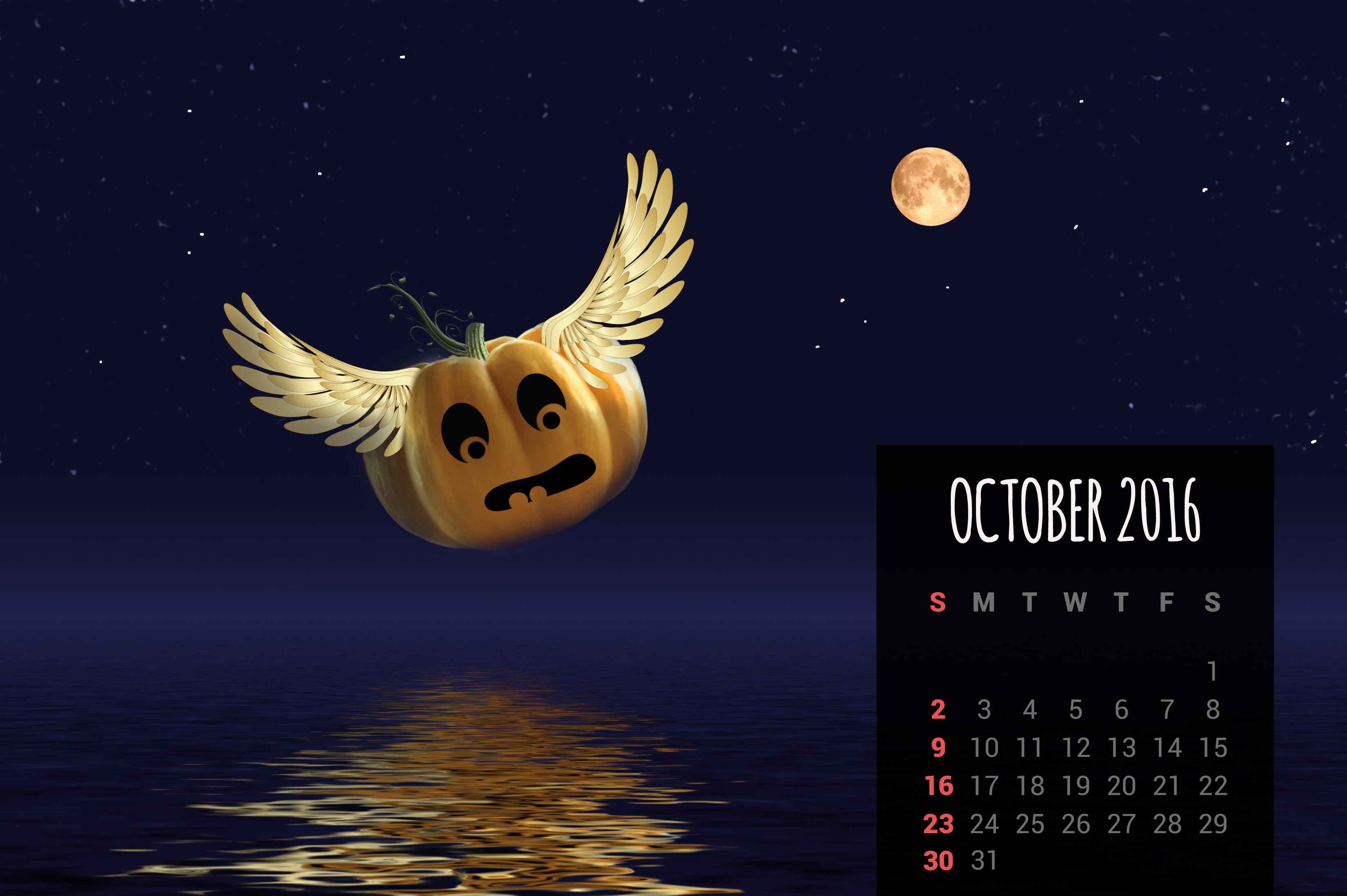 calendar wallpapers free october 2016 desktop backgrounds