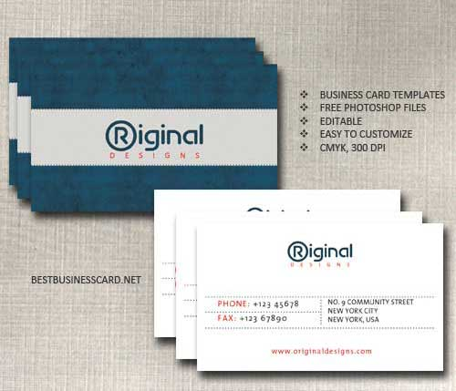 Business Card Template PSD Free Editable Files - Business card template photoshop psd