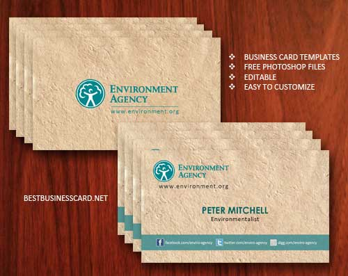 Business Card Template PSD: 22 Free Editable Files