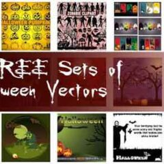25 Sets of Free Halloween Clip Art Vectors