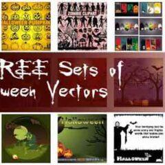 25 Sets of Free Halloween Clip Art Vectors