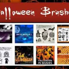 13 Sets of Halloween Photoshop Brushes for Designing Posters