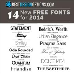 New Free Fonts to Spruce Up Your Designs