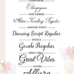 13 Elegant Free Wedding Font Types to Download