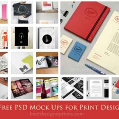 PSD MockUp Templates for Showcasing Print Designs
