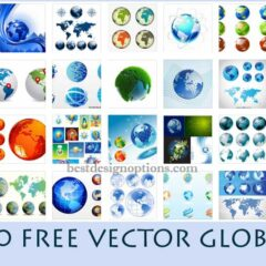 30 Sets of Free Vector Globe Graphics for Modern Designs
