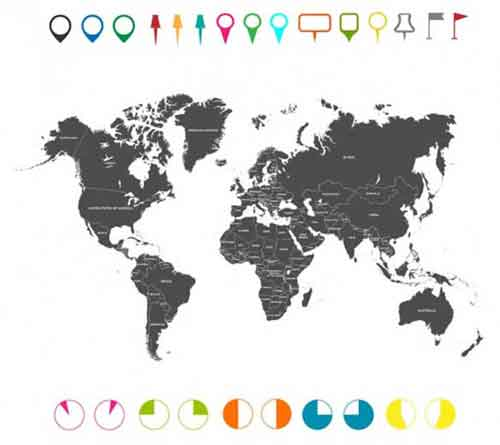 Vector world map files for free download vector world map gumiabroncs Images