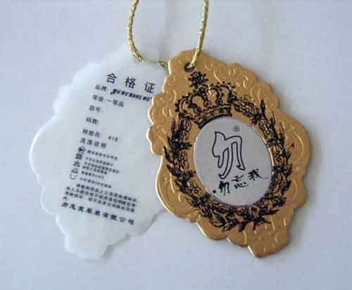 jewelry hang tag