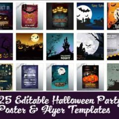 25 Free Vector Halloween Poster Templates