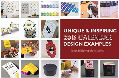 Unique Desk Calendar Ideas : Unique calendar designs examples from