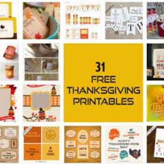 31 Sets of Free Thanksgiving Printables for Fall