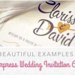 35 Elegant Examples of Letterpress Wedding Invitation Cards