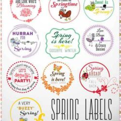 10 Free Printable Labels and Tags for Spring