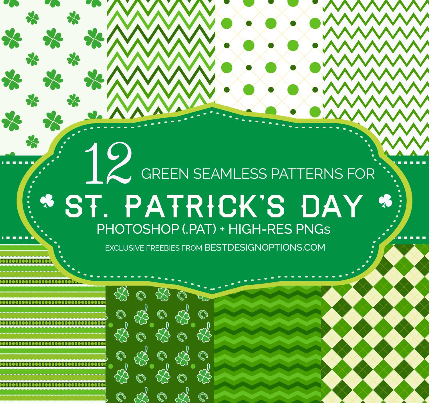 green background patterns for creating st patrick u0027s day printables