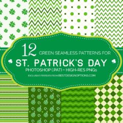 12 Free Green Background Patterns for St. Patrick's Day