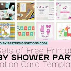 Shower Invitation Cards: 35 Sets of Printable Templates