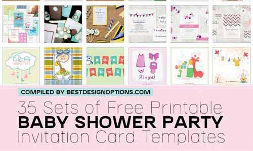 shower invitation cards: 35 sets of printable templates to download, Baby shower invitations
