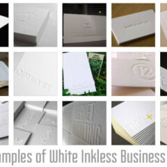 37 Examples of Clean Business Card Designs in White