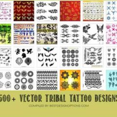 500+ Free Tribal Tattoo Designs in Vector Format