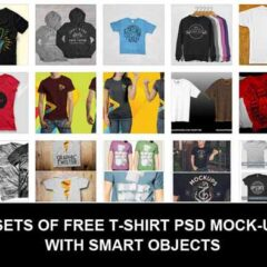 33 Clothes Mockup Templates for T-shirts, Apparel