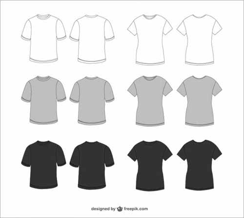 T shirt design templates 38 sets free editable vectors t shirt design templates pronofoot35fo Gallery