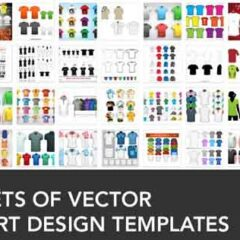 38 Sets of Free Vector T-shirt Design Templates