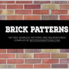 165 Free Seamless Brick Patterns and Backgrounds