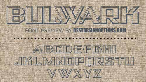 embossed fonts
