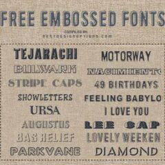 17 of the Best Free Embossed Fonts to Download Now