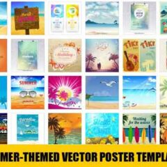 30 Free Vector Summer Holiday Poster Templates