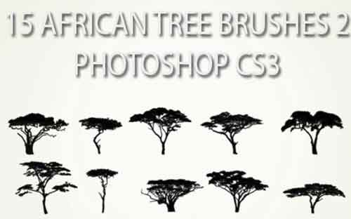 tree photoshop brushes