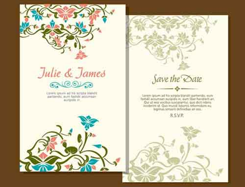 wedding invitation card templates you can use to create your own, Wedding invitation