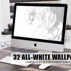 32 Refreshing White Wallpapers for Uncluttered Desktop