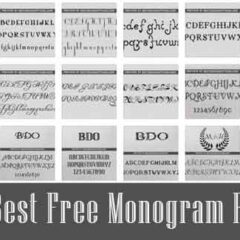 18 Free Monogram Font Types for Logo Designs