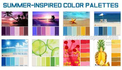 Summer Colors Cool Palettes For Summer Designs